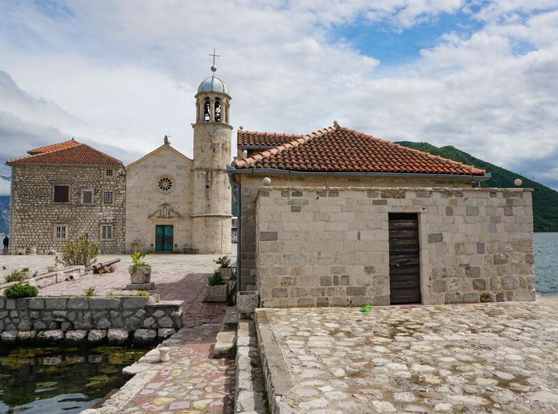 The Church of Our Lady of the Rocks in Perast Montenegro