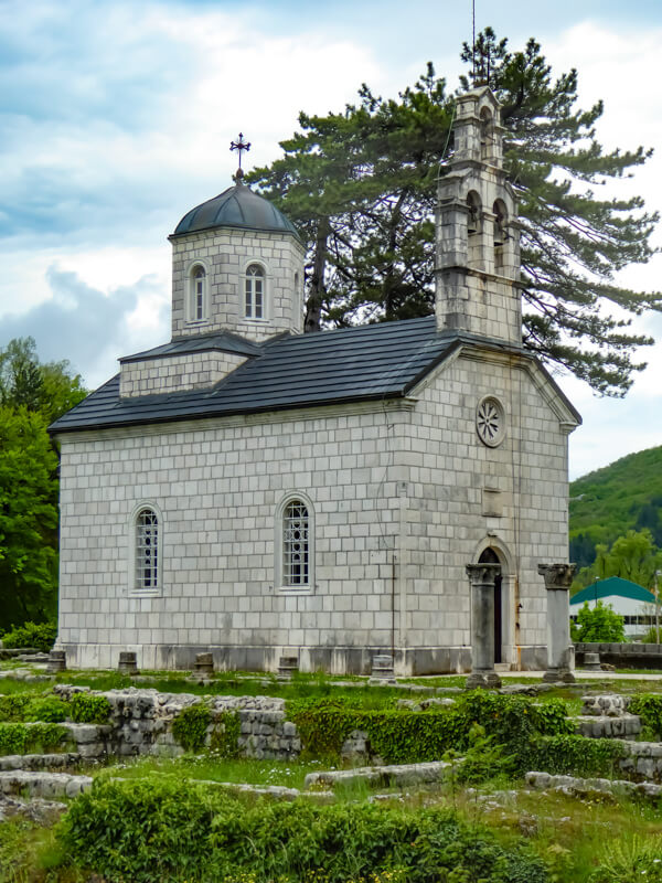 The little Court Church on Cipur Cetinje Montenegro