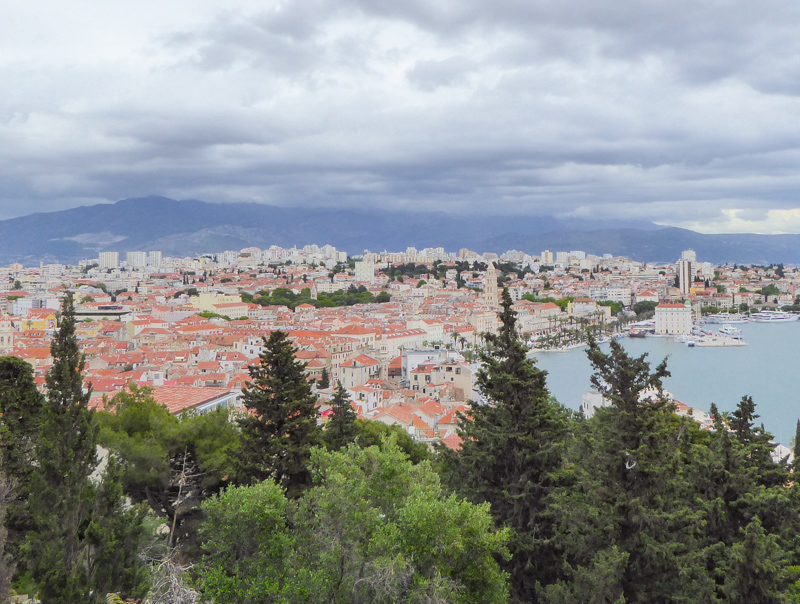 View from Marjan Hill Split Croatia