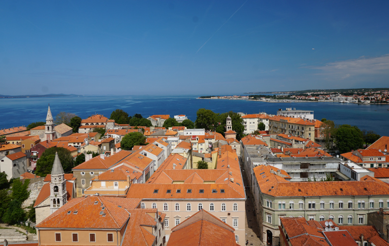 View from Zadar Bell Tower in Croatia