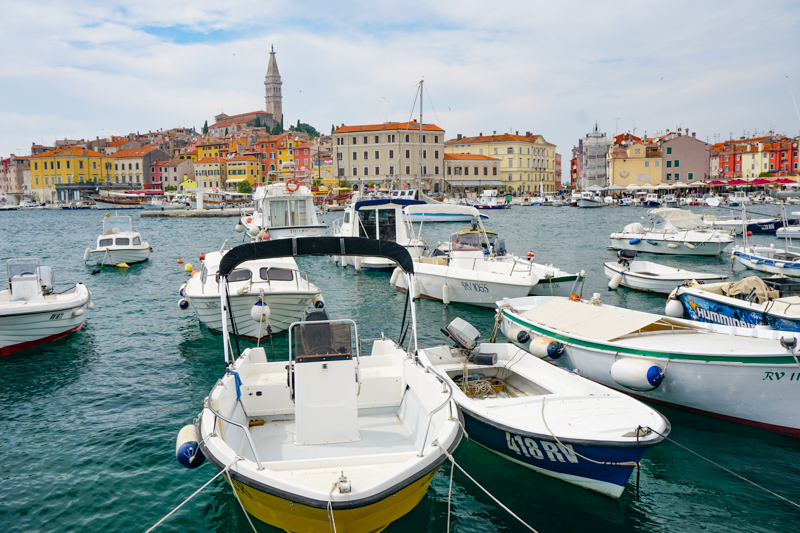 Waterfront in Rovinj Croatia