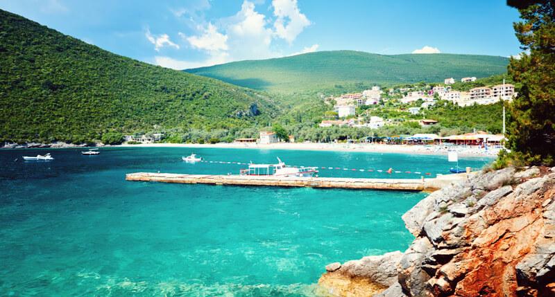 Zanjic Beach Lustica Peninsula Montenegro