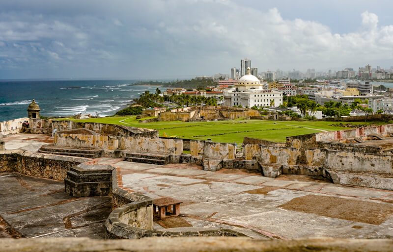 A View from the Castillo San Cristobal in San Juan Puerto Rico