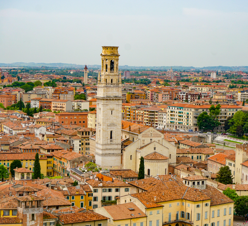 A view from Castel San Pietro in Verona Italy