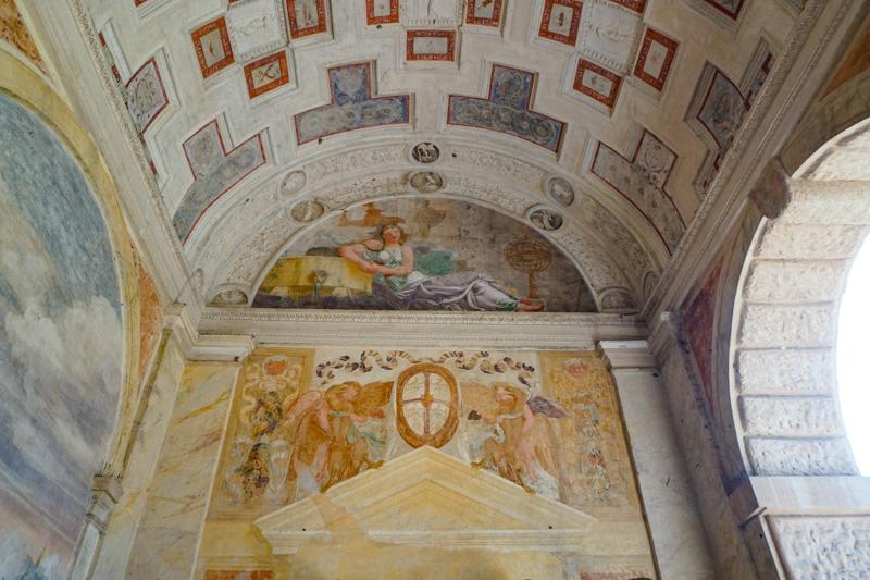 An interior in Palazzo Te Mantua Italy