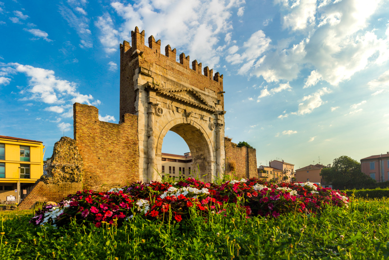 Arch of Augustus in Rimini, Italy