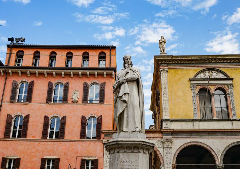 Architecture in Piazza dei Signori in Verona Italy