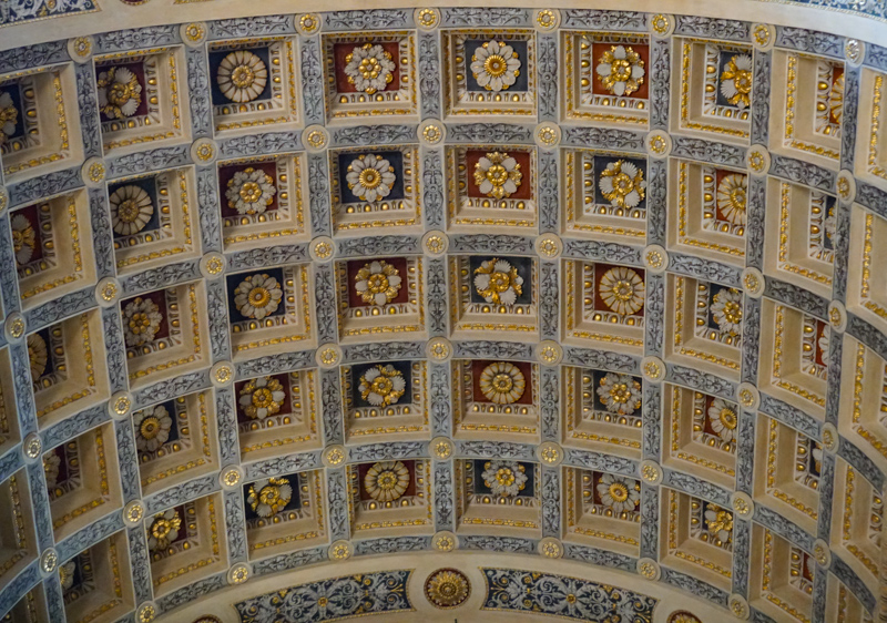 Ceiling Detail in the Basilica di Sant'Andea Mantova Italy