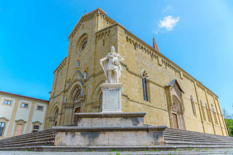The Cathedral in Arezzo Italy
