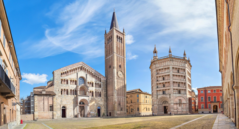 Cathedral in Parma Italy