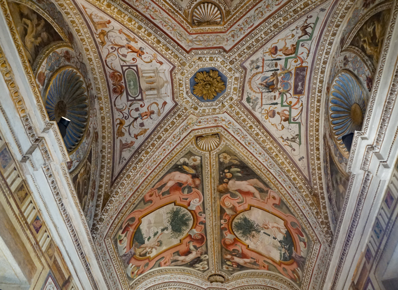 Ceiling in the Ducal Palace Mantua Italy