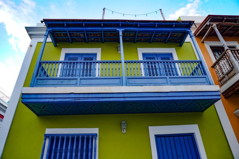 Facade Old San Juan Puerto Rico