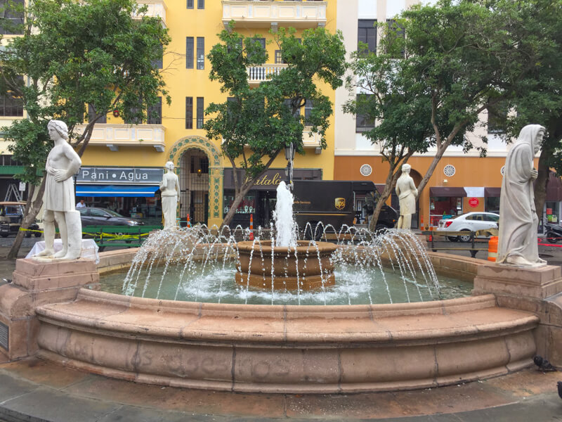 Fountain at Plaza de Armas Old San Juan