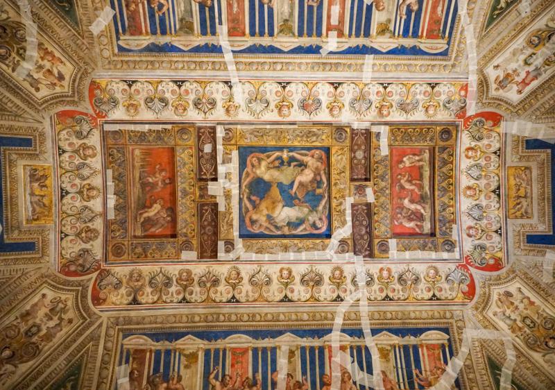 Frescoed Ceiling Castello di Estense Ferrara Italy