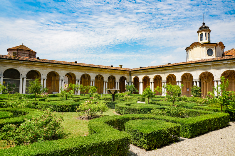 Gardens at the Ducal Palace Mantua Italy