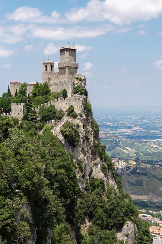 Hilltop Castle in San Marino