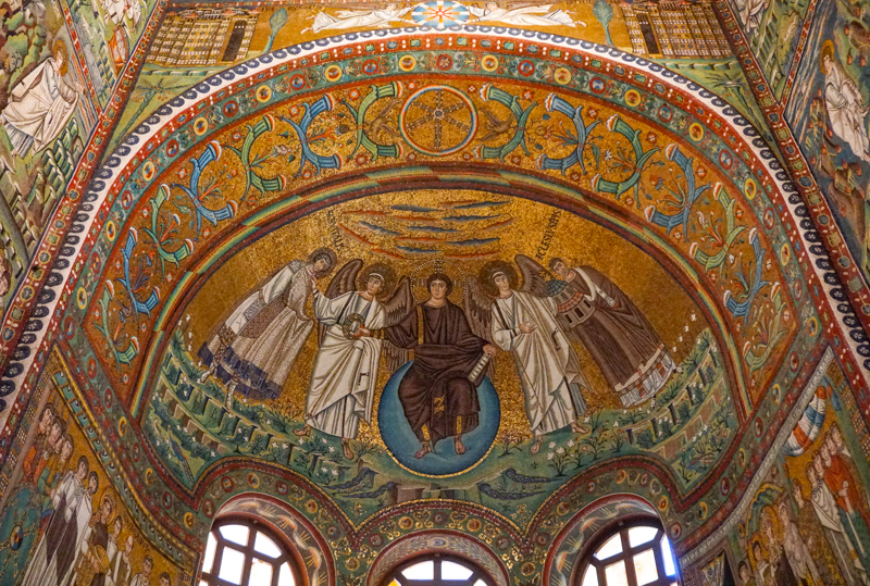 Mosaic Art at the Basilica di San Vitale in Ravenna Italy