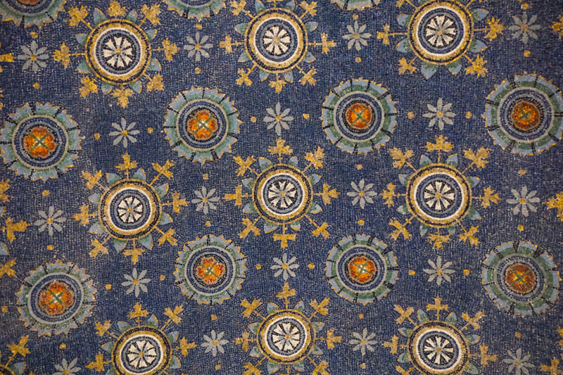 Mosaic Ceiling Mausoleum of Galla Placidia Ravenna Italy