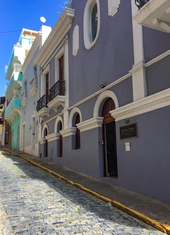 Cobblestone street in Old San Juan Puerto Rico
