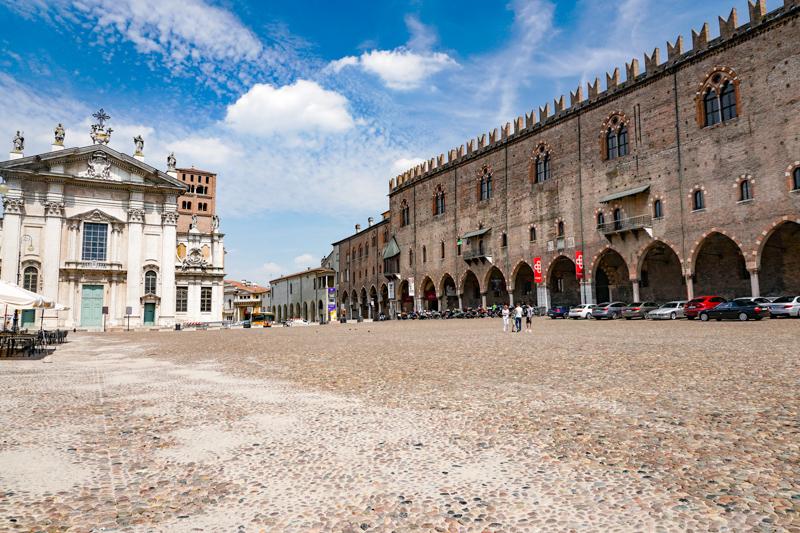 Piazza Sordello Mantua Italy