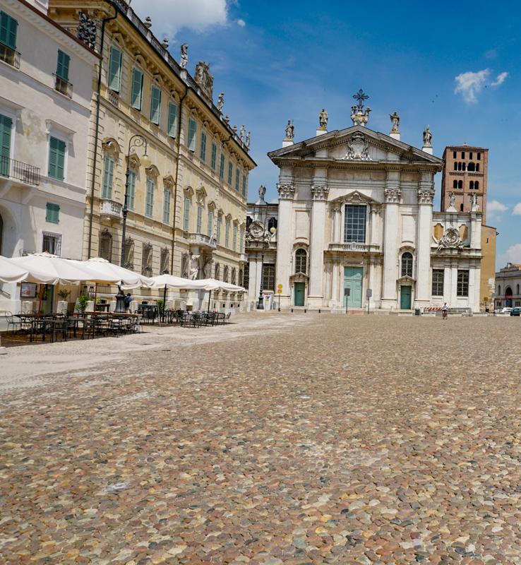 Piazza Sordello in Mantova Italy