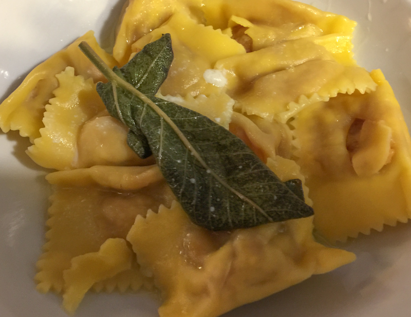 Pumpkin Ravioli in Mantua Italy