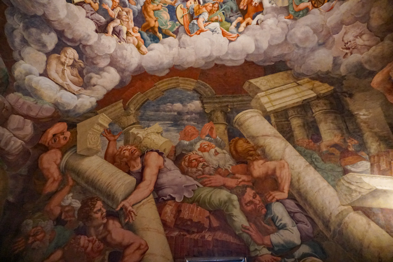 Room of the Giants in Palazzo Te Mantova Italy
