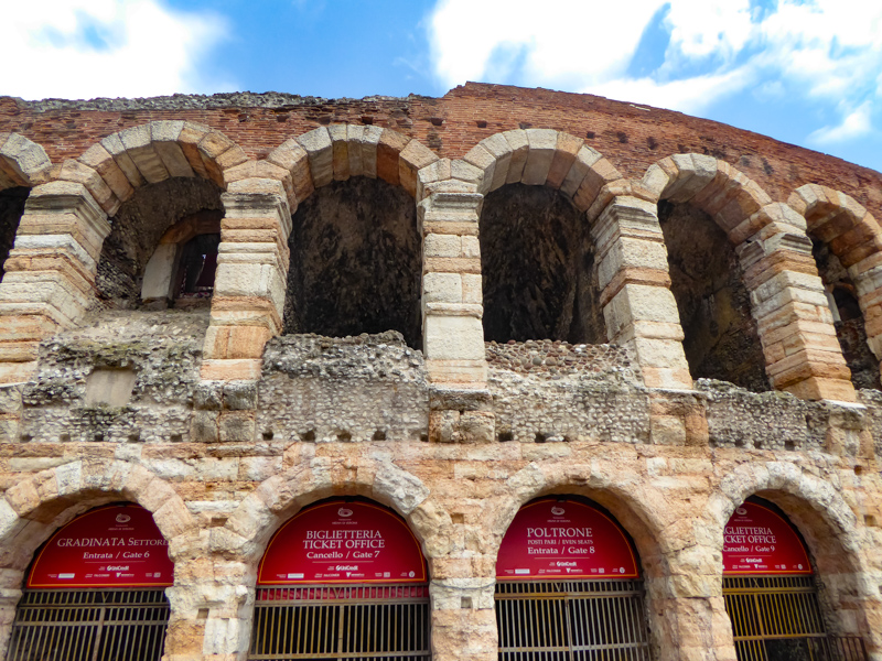 The Arena in Verona Italy