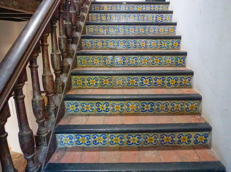 Tiled staircase Casa Blanca Old San Juan PR