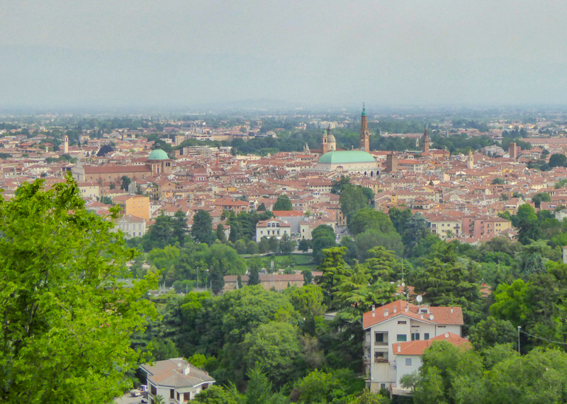 A view of Vicenza in Italy from Monte Berico