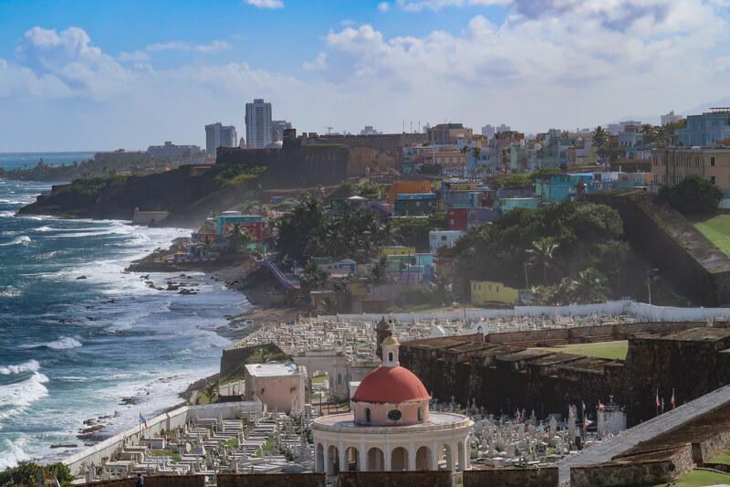 View of Old San Juan Cemetery San Juan Puerto Rico