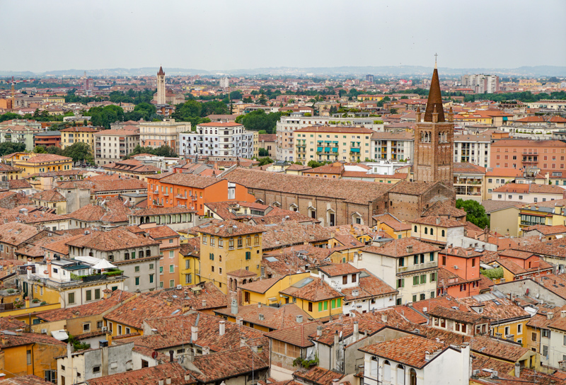 View of the rooftops of Verona, Italy