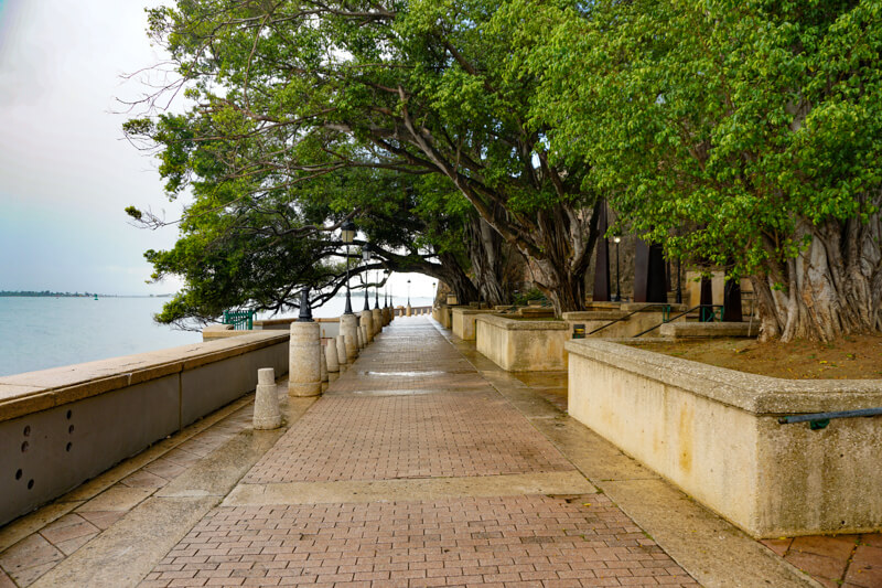 Waterfront walkway Old San Juan Puerto Rico