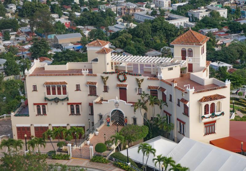 Castillo Serralles from the Vigia Cross Ponce PR