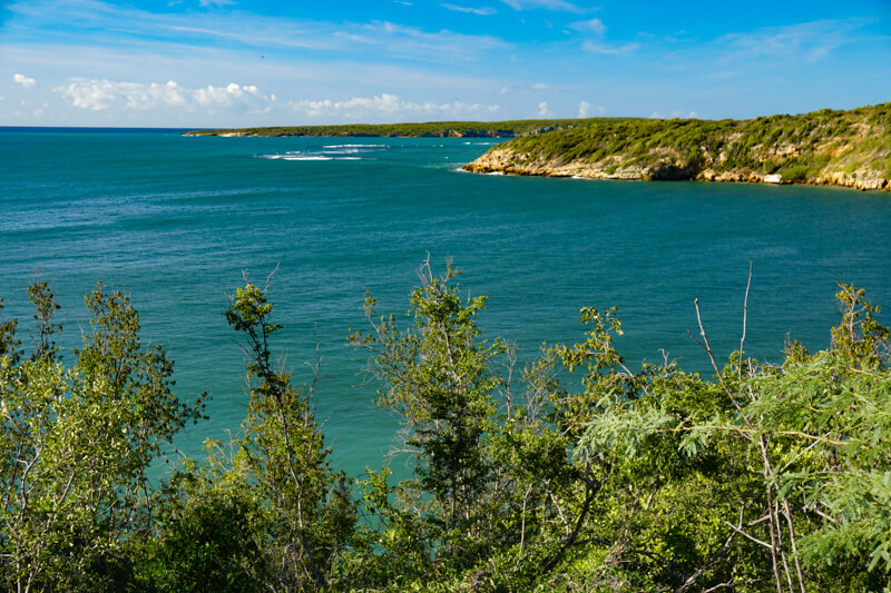 Coastline of Guanica in Puerto Rico