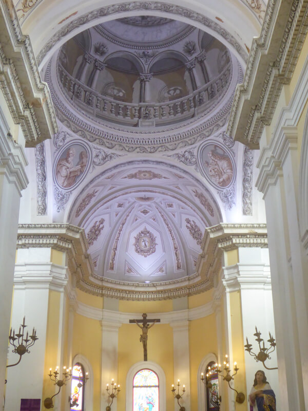 Interior of the San Juan Cathedral in Puerto Rico