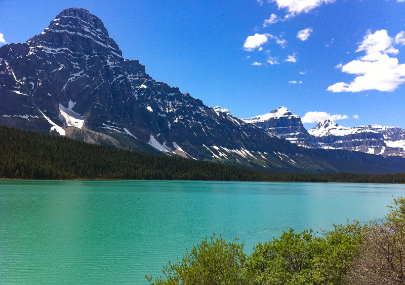 Lower Waterfowl Lake in Banff Canada