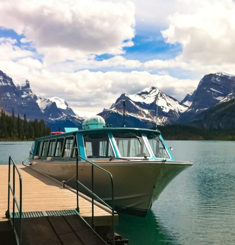 Maligne Lake Cruise Boat Jasper Canada