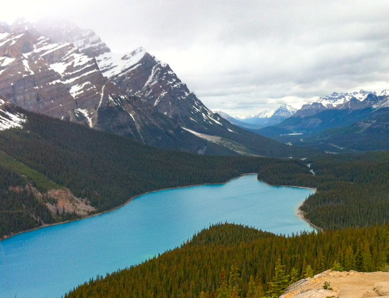 Peyto Lake Icefields Parkway Alberta Canada