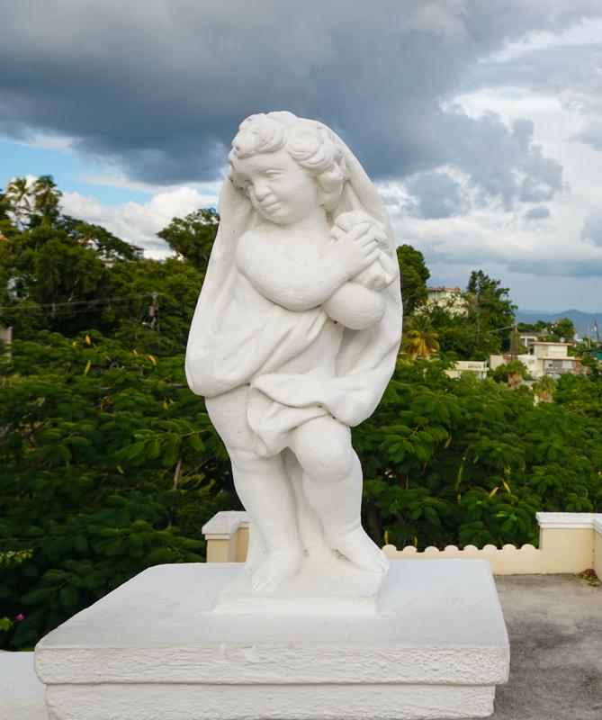 Statue Castillo Serralles Ponce PR