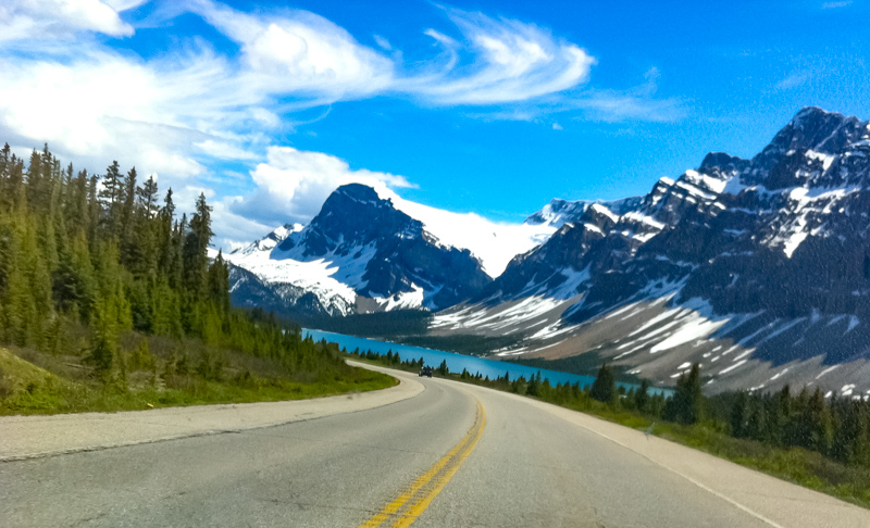 The Icefields Parkway in Alberta, Canada