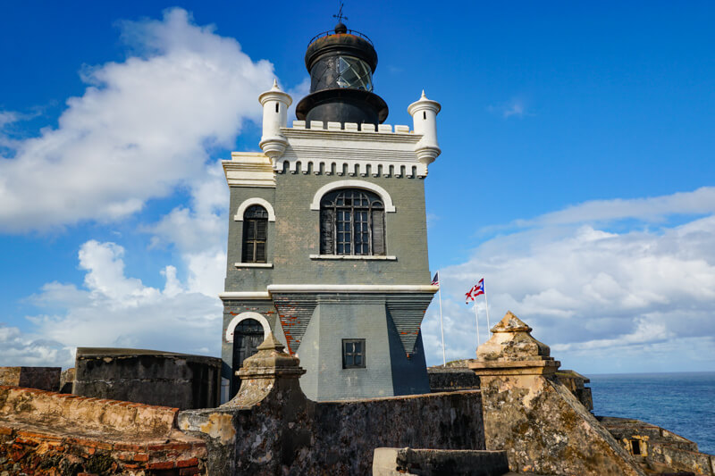 The Lighthouse at El Morro San Juan Puerto Rico