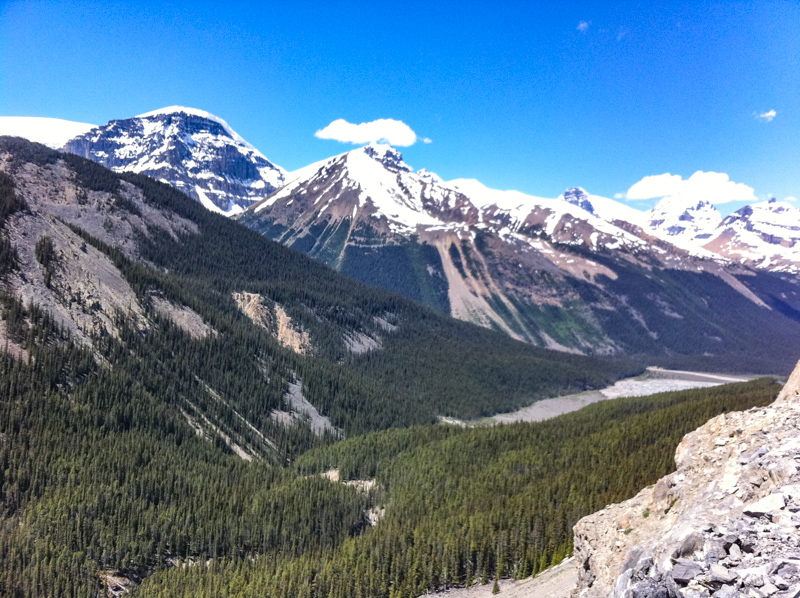 View from the Glacier Skywalk in Jasper Canada