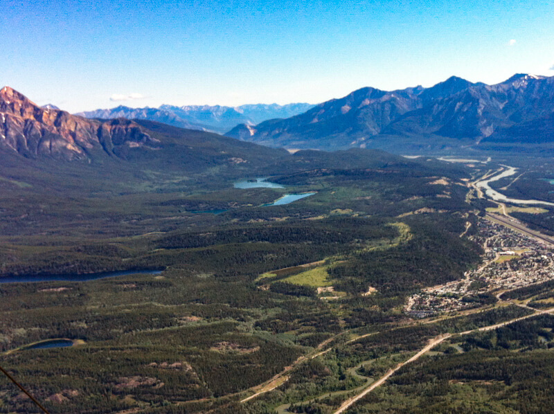 View from Upper Station Jasper SkyTram Canada