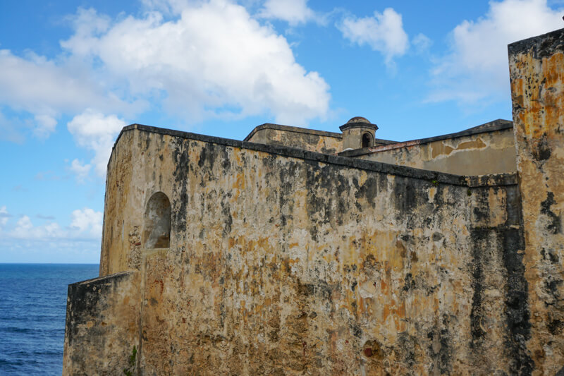 Walls of Castillo San Cristobal San Juan Puerto Rico