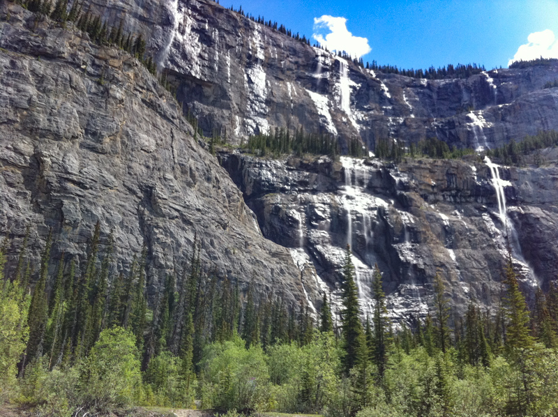 Weeping Wall Icefields Parkway Canada