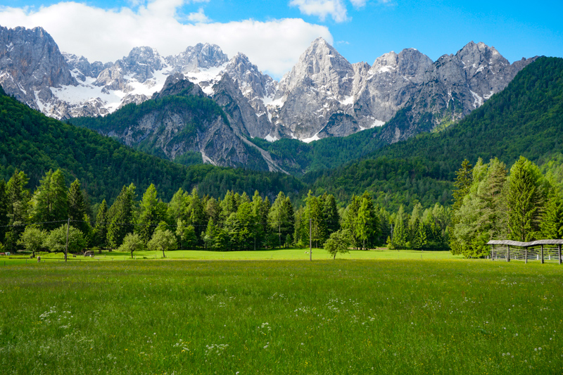 A view of the mountains at Kranjska Gora Slovenia