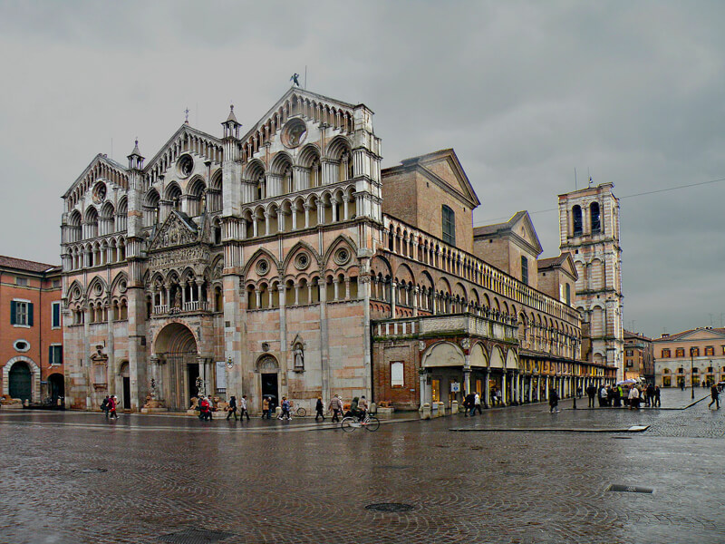 Duomo di Ferrara in Italy