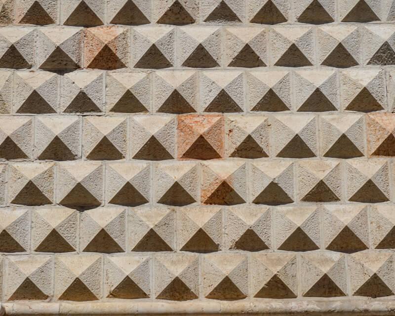 Facade Palazzo dei Diamanti Ferrara Italy