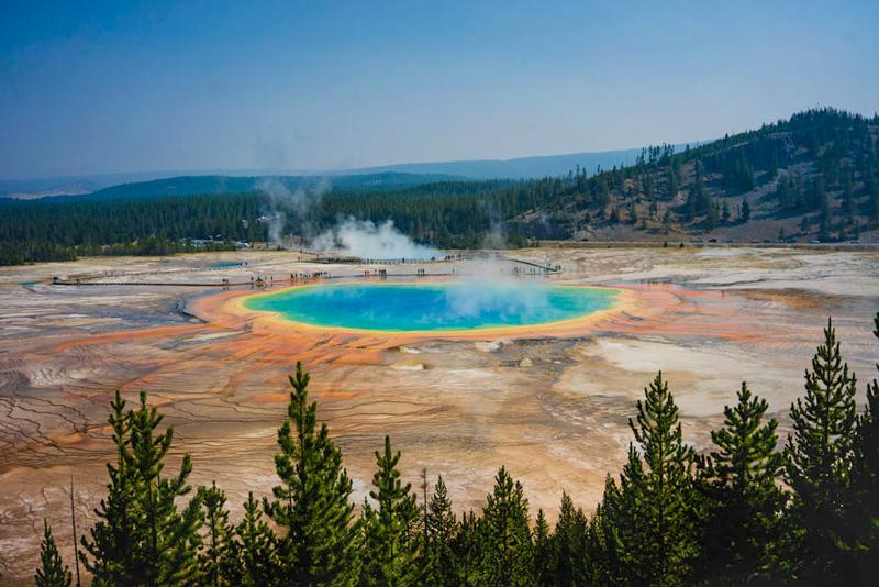Grand Prismatic Spring Yellowstone NP USA